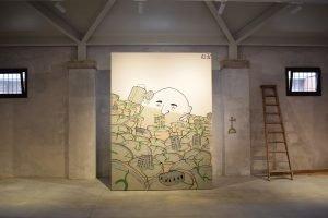 """Read more about the article Un murale del caorlotto """"Atez"""" alla Biennale"""